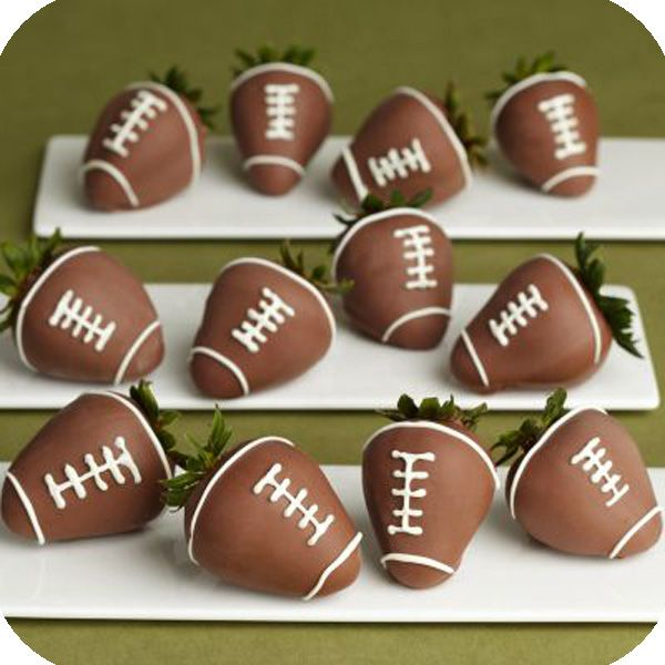 chocolate covered footballs