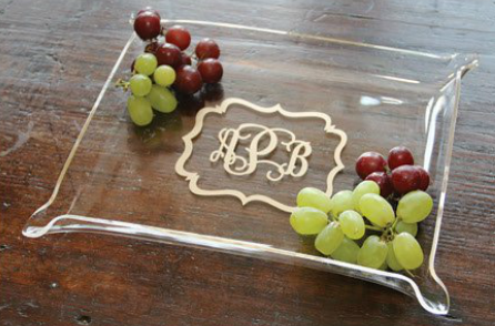 initial outfitters snack tray