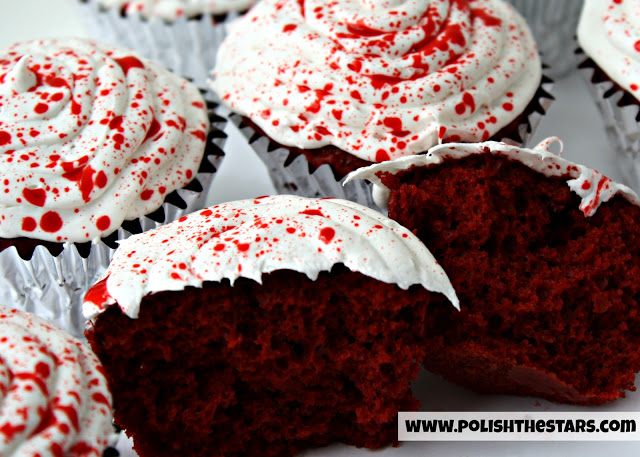 dexter blood splatter cupcakes 2