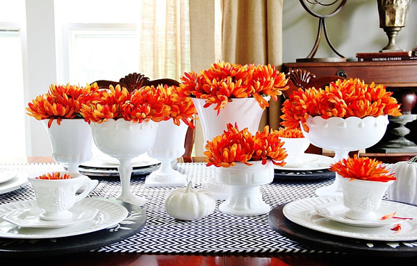 White-and-orange-fall-table-setting
