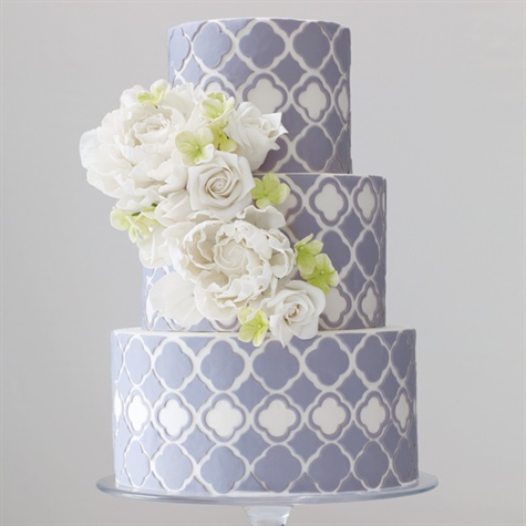 modern patterned wedding cake
