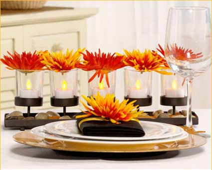 Table of contents for Modern table centerpieces