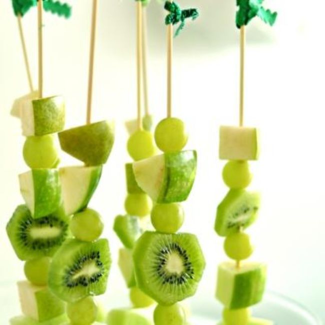 green fruit kabobs